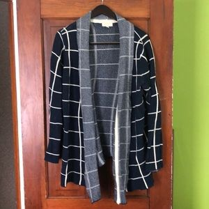 ModCloth large check open cardigan